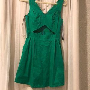 Medium never worn green material girl mini dress